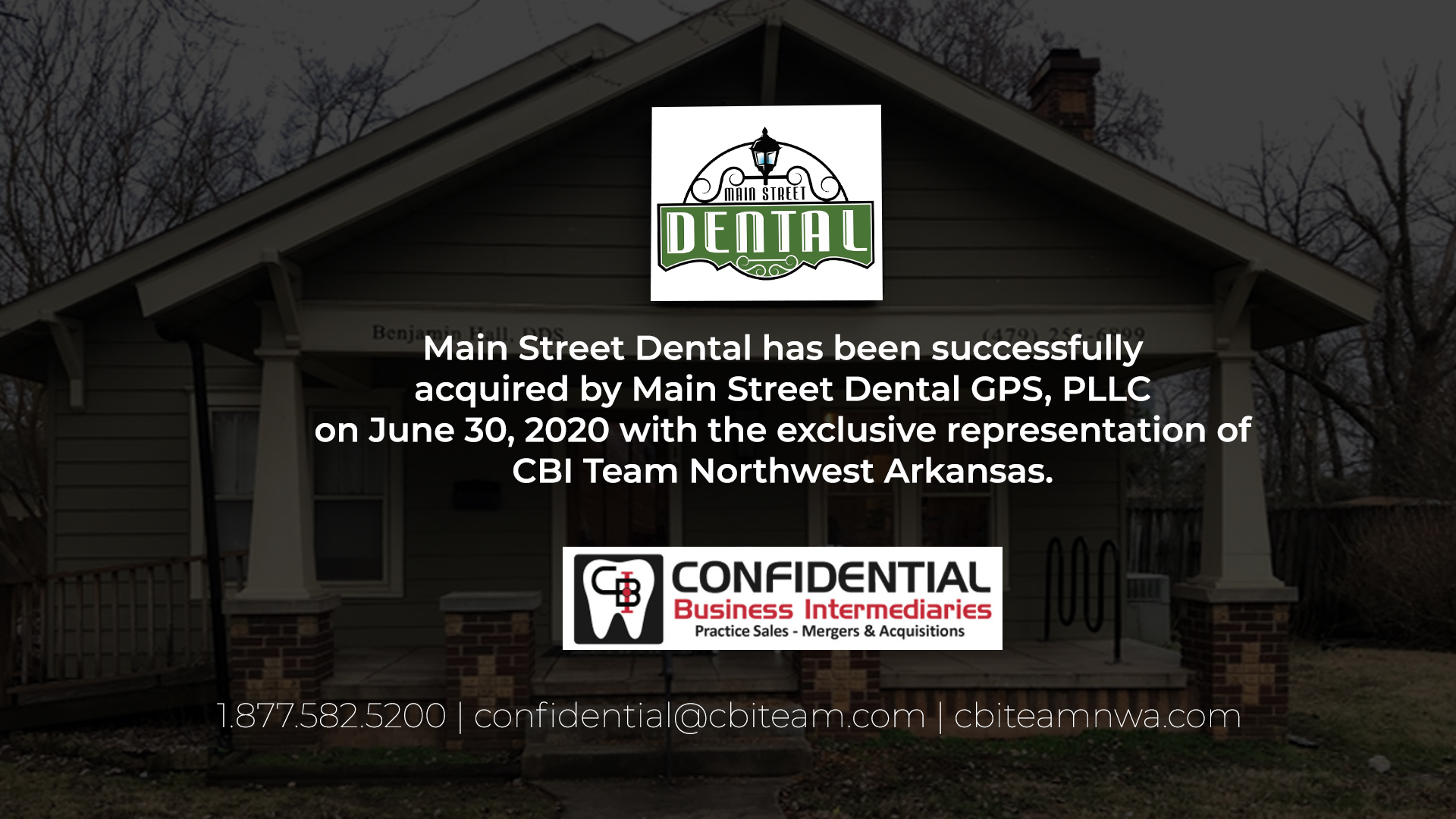 Main Street Dental Sold